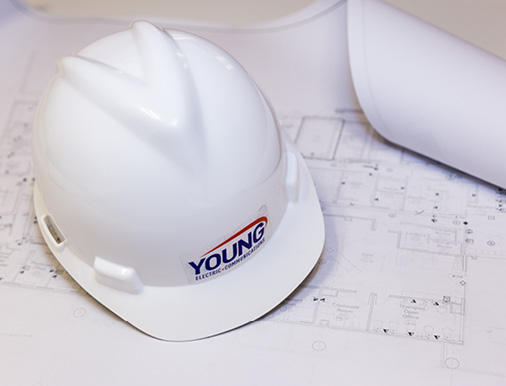Young Electric + Communications Hard Hat